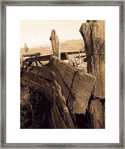 Cowboy Corral Framed Print