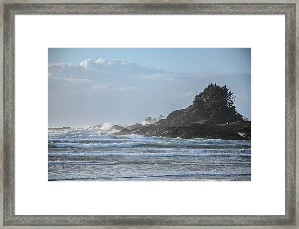 Cox Bay Afternoon Waves Framed Print