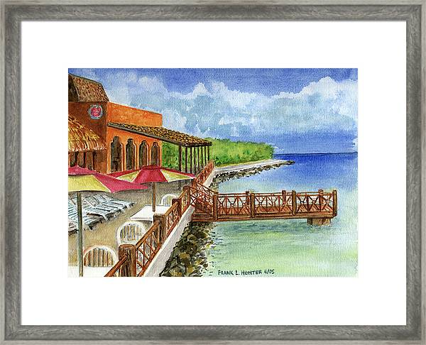 Cozumel Mexico Little Pier Framed Print