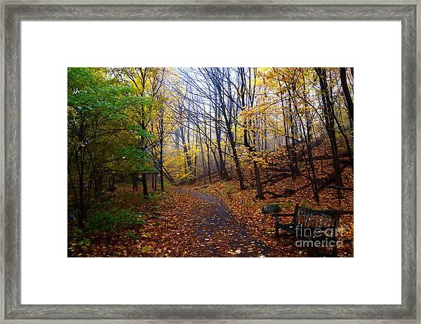 Cozy Fall Corner Framed Print