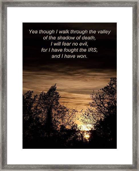 Cpa Quote Framed Print