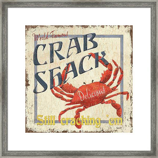 Crab Shack Framed Print