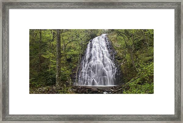 Crabtree Falls Panorama Framed Print