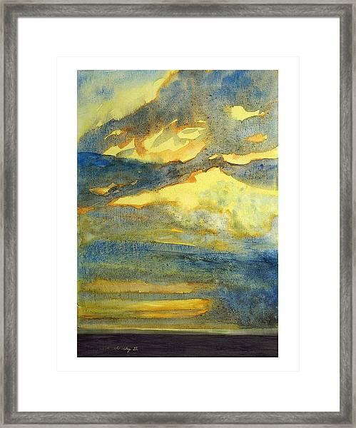 Crack The Sky Iv Framed Print