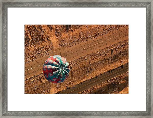 Cracked Highway Framed Print by Keith Berr