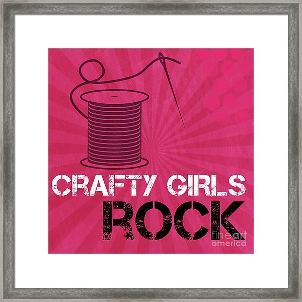 Crafty Girls Rock Framed Print