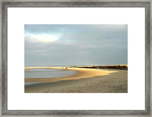 Framed Print featuring the photograph Crane Beach by AnnaJanessa PhotoArt