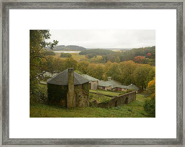 Crane Estate On A Misty Day Framed Print