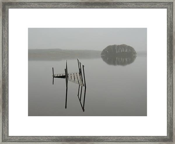 Crannog At Lake Knockalough Framed Print