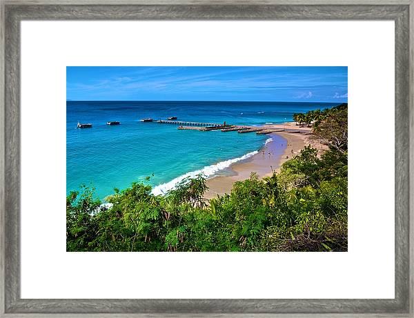 Crash Boat Beach 1 Framed Print