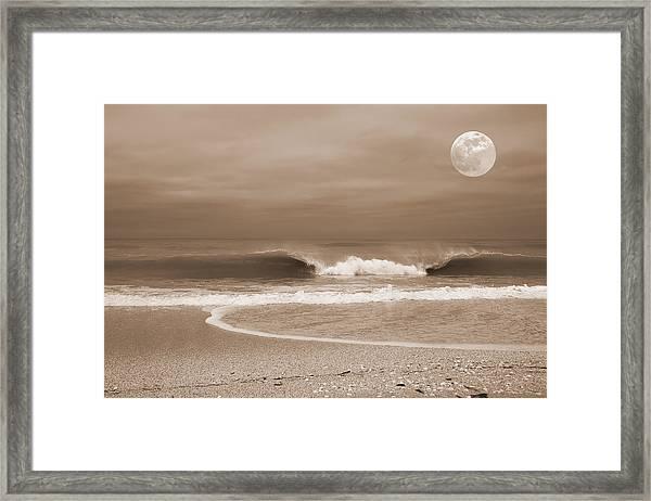 Crashing Moon Framed Print