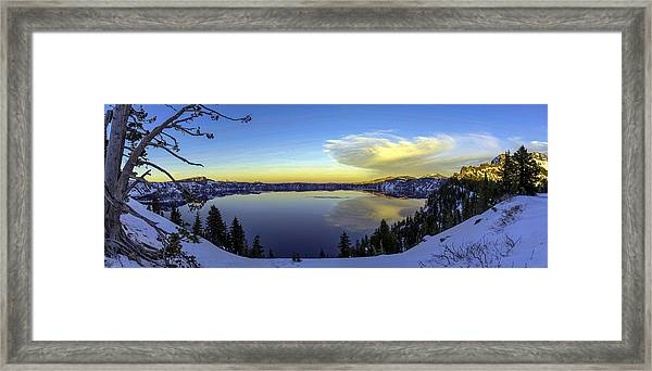 Crater Lake Panorama Framed Print
