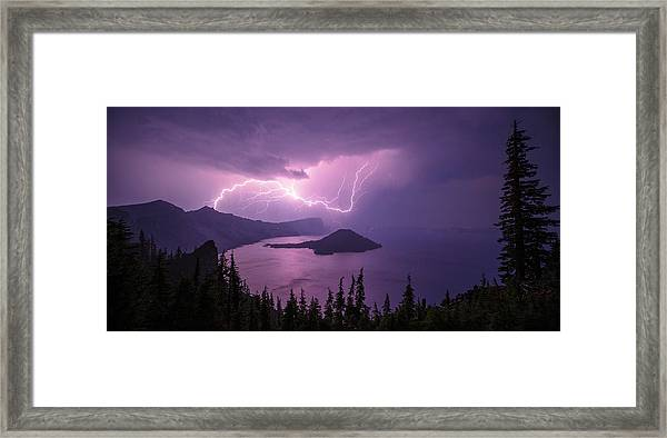 Crater Storm Framed Print