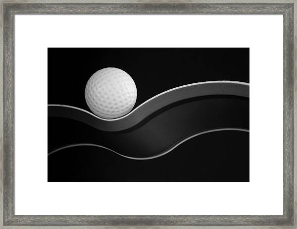 Craters And Curves Framed Print