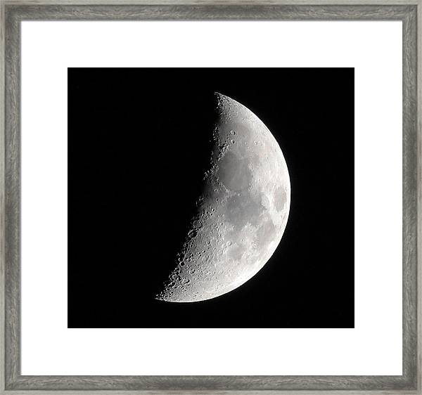 Craters Framed Print