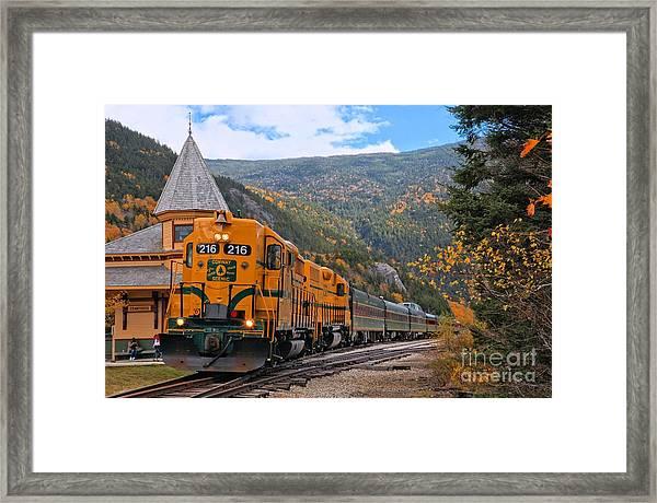 Crawford Notch Train Depot Framed Print