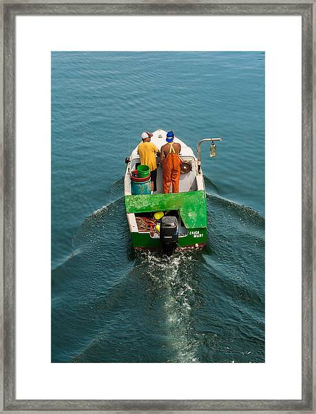 Crayola Lobsterboat Framed Print
