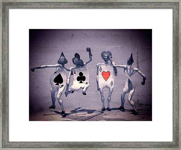 Framed Print featuring the digital art Crazy Aces by Bob Orsillo