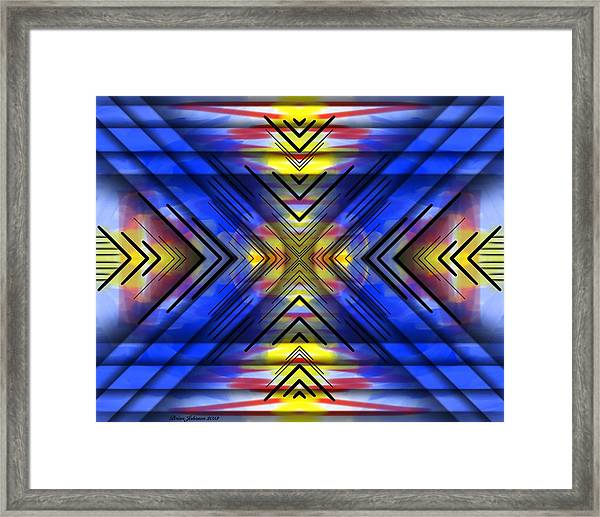 Crazy Daze Framed Print