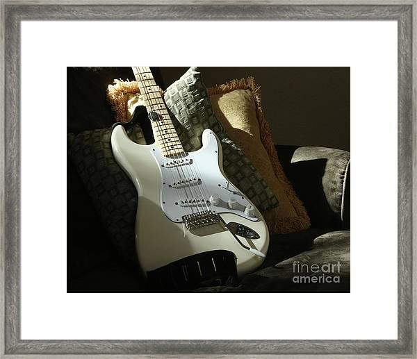 Cream Guitar Framed Print