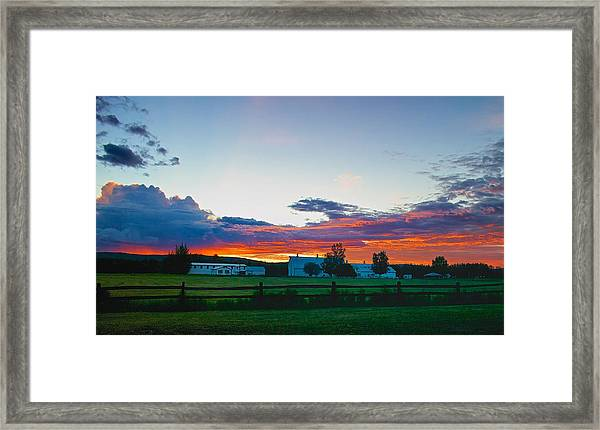 Creamer's Diary Sunrise Fairbanks Alaska Framed Print