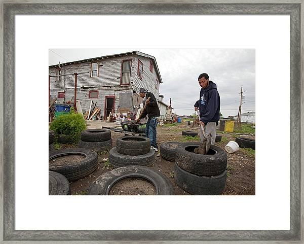 Creating Community Garden Framed Print
