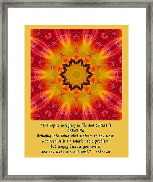 Creating Mandala Framed Print