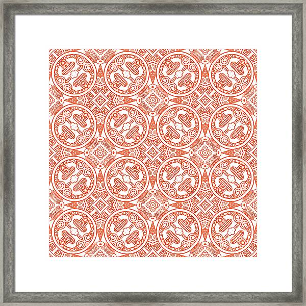 Creative Design Of A Retro Background Framed Print