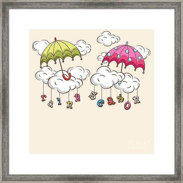Creative Kiddish Concept With Colorful Framed Print by Allies Interactive