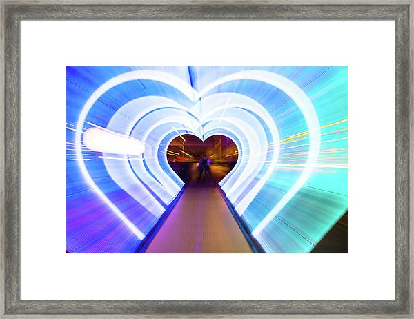 Creative Picture With Zoom Technique Of Framed Print by Artur Debat