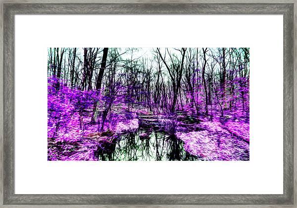 Creek By Purple Framed Print