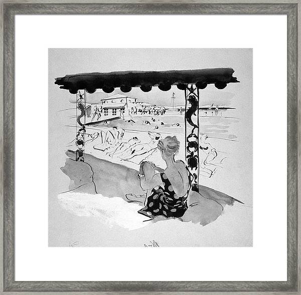 Creek Club Beach Framed Print