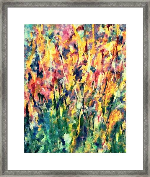 Crescendo Of Spring Abstract Framed Print