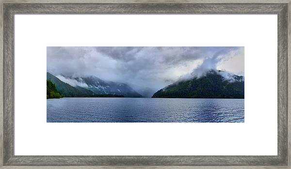 Crescent Lake Framed Print