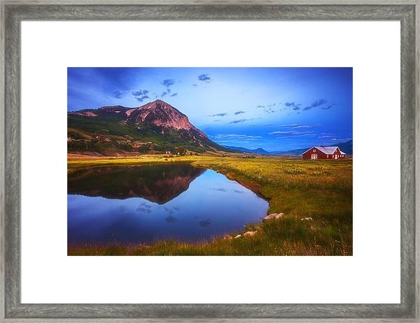 Crested Butte Morning Framed Print