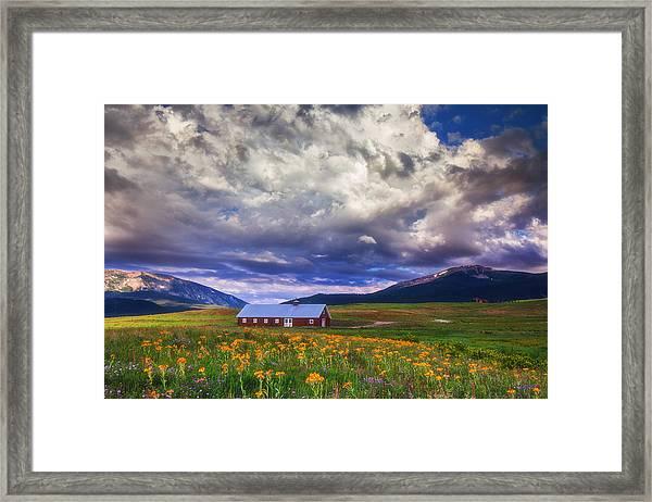 Crested Butte Morning Storm Framed Print