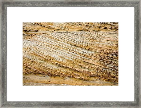 Cretaceous Rock Deposits Framed Print