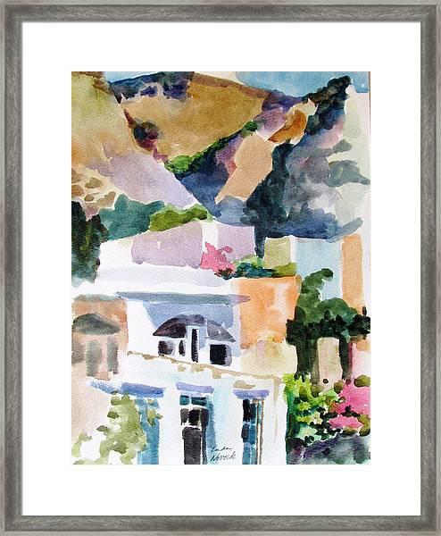 Crete Mountainside Framed Print