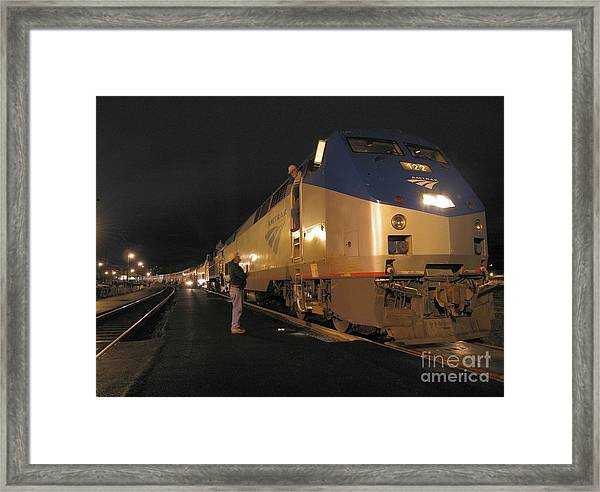 Crew Change At Klamath Falls Framed Print