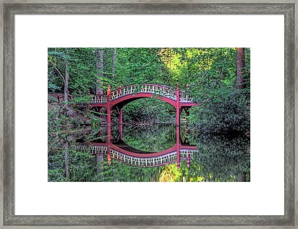 Crim Dell Bridge In Summer Framed Print