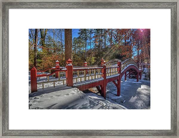 Crim Dell Bridge William And Mary Framed Print