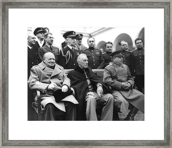 Crimean Conference In Yalta Framed Print
