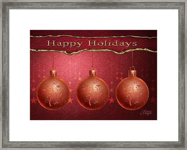 Crimson Ornaments Framed Print