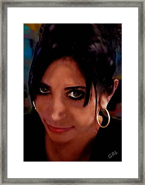 Framed Print featuring the painting Crissy I by G Linsenmayer