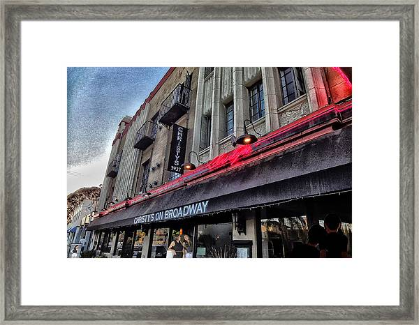 Cristies In Long Beach Framed Print