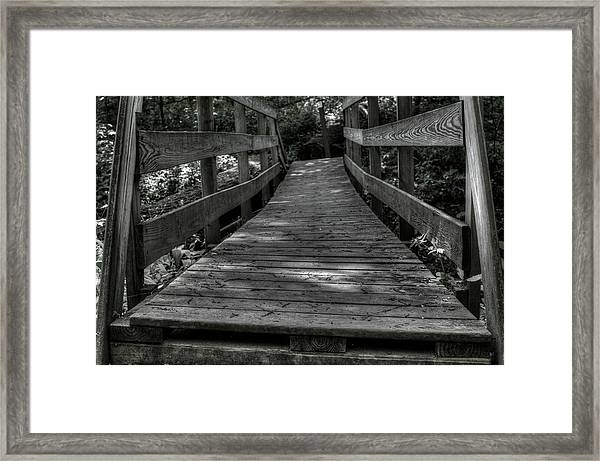 Crooked Bridge Framed Print