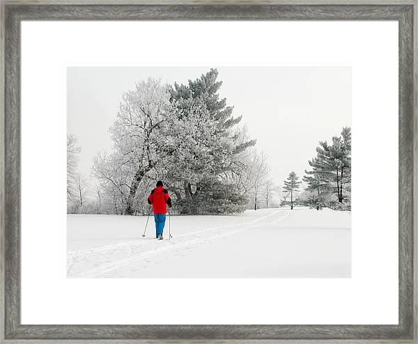 Cross Country Skiing Framed Print