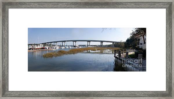 Cross Island Bridge Hilton Head Framed Print
