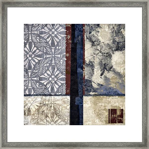 Cross Polynesian Abstract Collage Framed Print