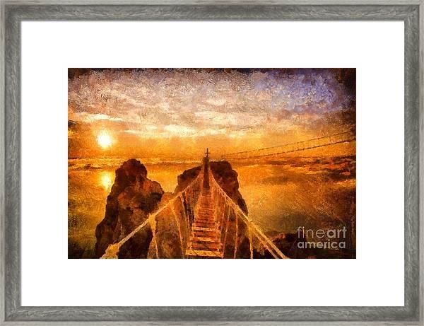 Cross That Bridge Framed Print